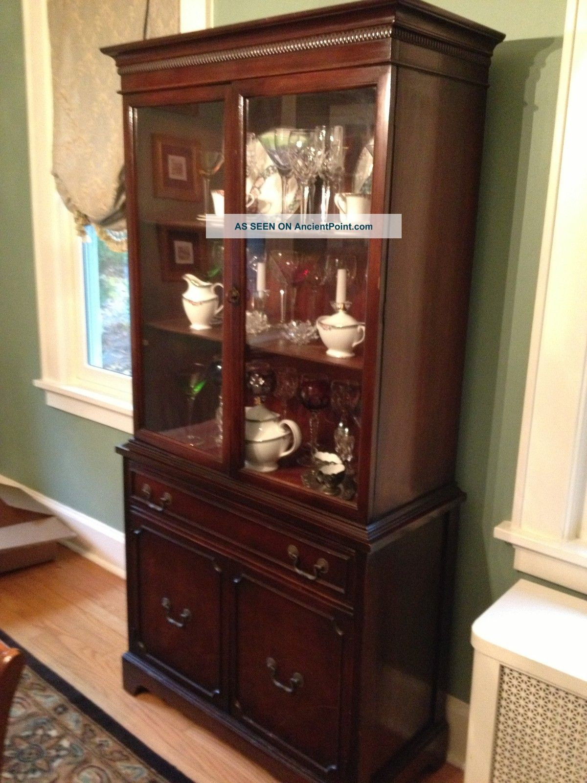 - Antique Dining Room Set Incl Buffet And China Cabinet