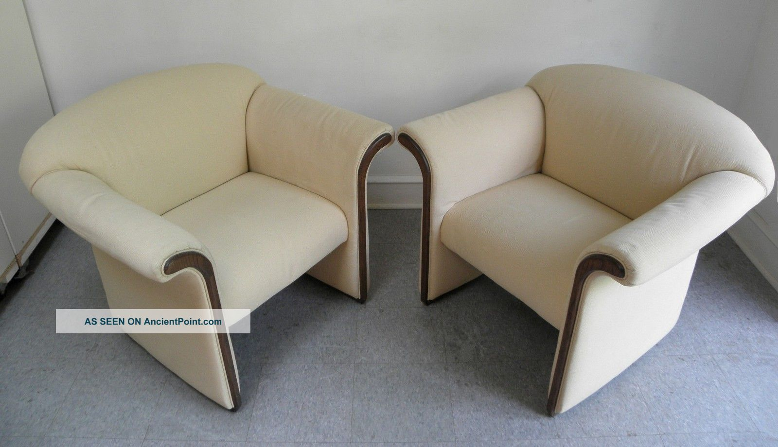 Pair Mid Century Modern Hollywood Regency Lounge Chairs David Edward 1970s Post-1950 photo