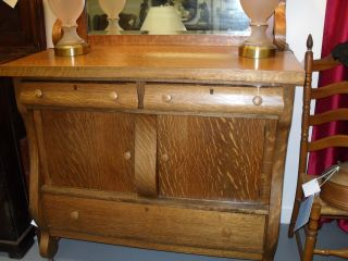 Antique Tigerwood Sideboard photo