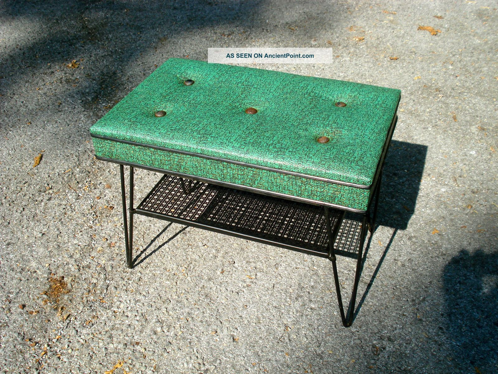 Mid Century Modern Patio Outdoor Bench With Hairpin Legs Post-1950 photo
