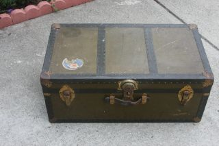 Vintage Olive Green Trunk photo