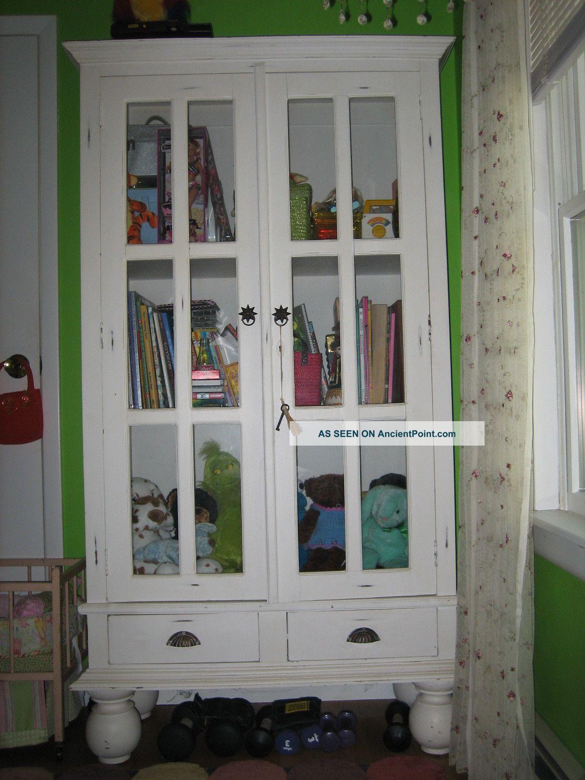 Shabby Chic Bookcase Cupboard Storage Cabinet Shelf Unit 3