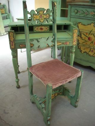 Victorian Bedroom Set Carved Tole Painted 1890 - 1910 Childs Cottage Chic Unique photo