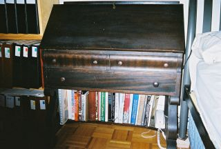 American Empire Black Walnut Slant - Front Desk.  Treasure Awaits Restoration. photo
