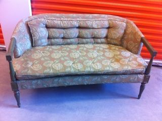 Antique Vintage Pretty Italian Sofa Love Seat Settee Maker Upholstery photo