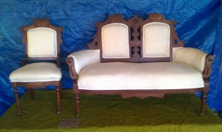 1920 ' S Antique Love Seat And Matching Chair photo