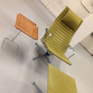 Charles Eames Aluminum Group Lounge Chair And Ottoman photo