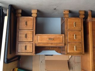 Antique Oak Vanity,  Los Angeles,  Ca photo