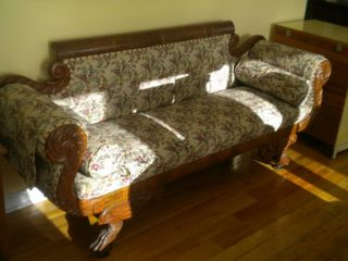 Empire Couch Settee C.  1830 ' S Lion Claws Snakes photo