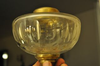 Victorian Crystal Oil Lamp Fount/bowl/reservoir photo
