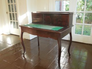 Period Antique German Desk,  Biedermeier Style,  C.  1860 photo