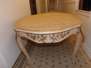 Vintage French Provincial Dining Table,  White Furniture Co.  Melbourne,  Nc photo