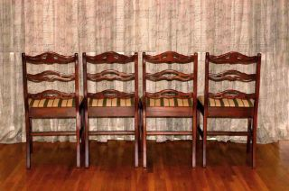 Set Of Four Duncan Phyfe Style Dining Chairs Fairfield Co photo