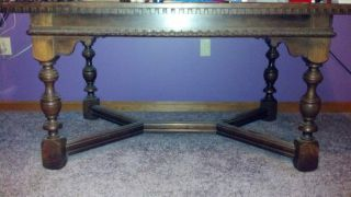 Early 1900 ' S Antique Dining Room Table And 4 Chairs photo
