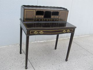 Stunning Maitland Smith Handmade Leather Desk/secretary photo