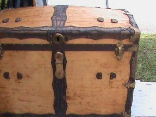 Movie Producers - Antique Trunk Leather Design Outside,  Cloth Lined Inside. photo
