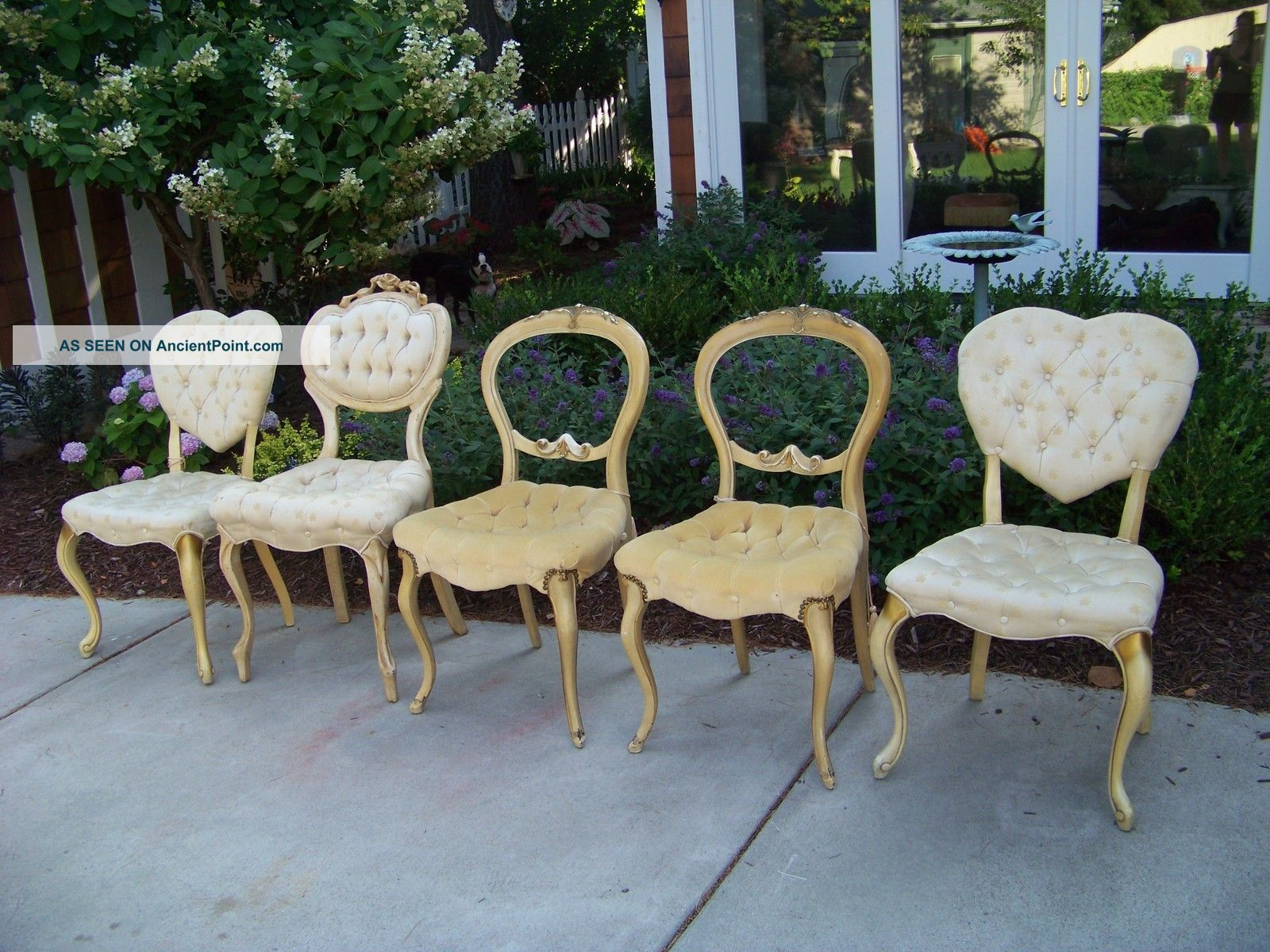 1 Of 5 Vintage French Provincial Dining Chairs,  Shabby,  Michigan,  Your Choice Post-1950 photo
