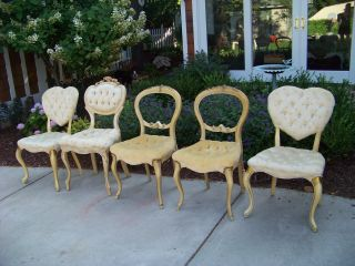 1 Of 5 Vintage French Provincial Dining Chairs,  Shabby,  Michigan,  Your Choice photo