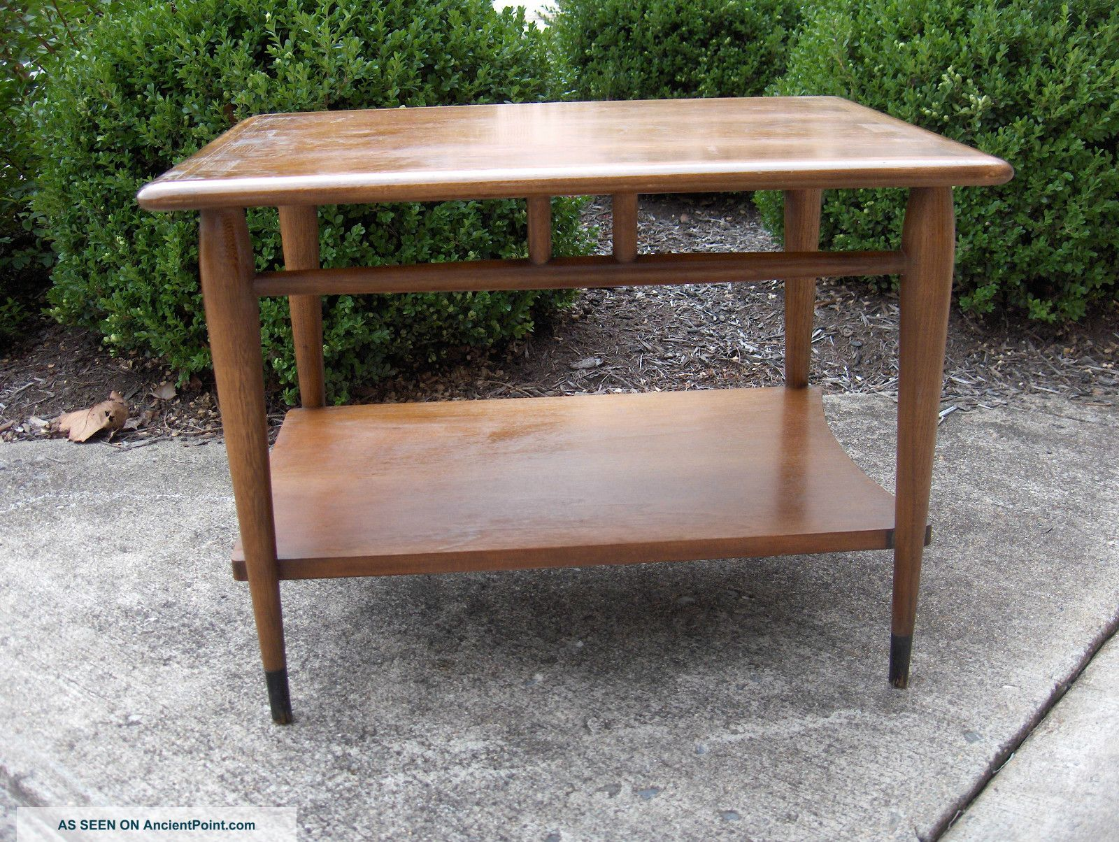 Lane Signed End Table 1960 ' S Style Number 900 05 Danish Eames Mid - Century Wood Post-1950 photo