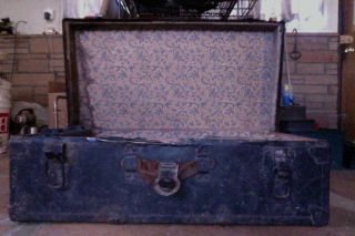 Antique Trunk Chest Metal Treasure Chest photo
