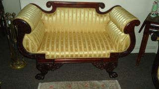 New York Classical Empire Federal Love Seat Sofa Decorative Arts Aafa Furniture photo