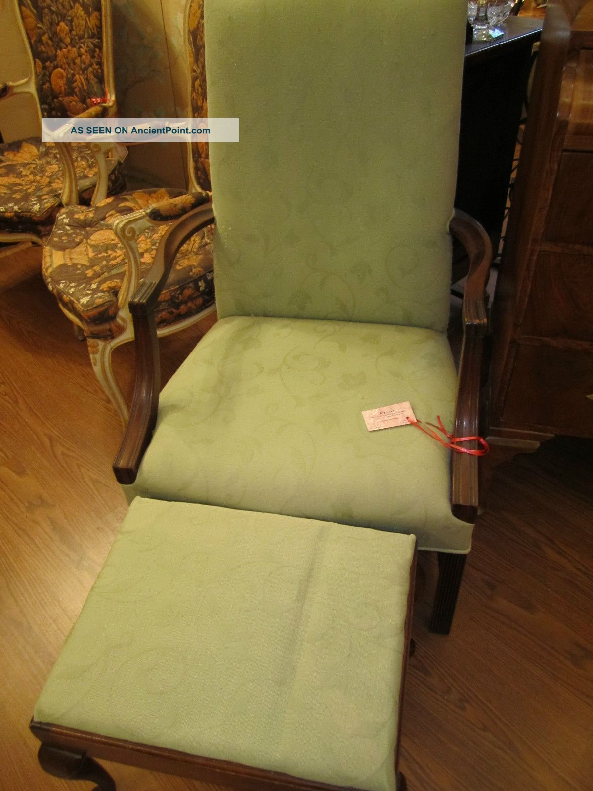 Great Looking Arm Chair With Footstool Post-1950 photo