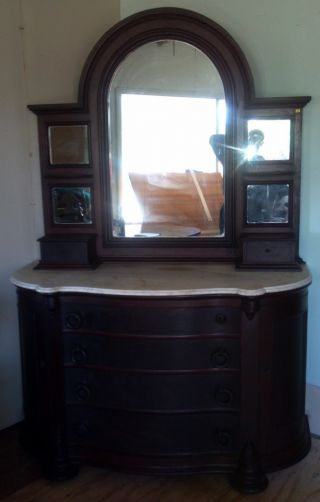 Antique Mahogany Dresser photo