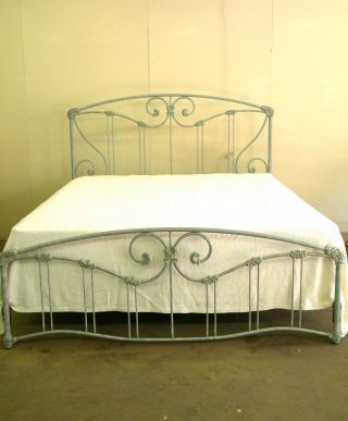 Vintage King - Size Wesley Allen Iron Bed photo