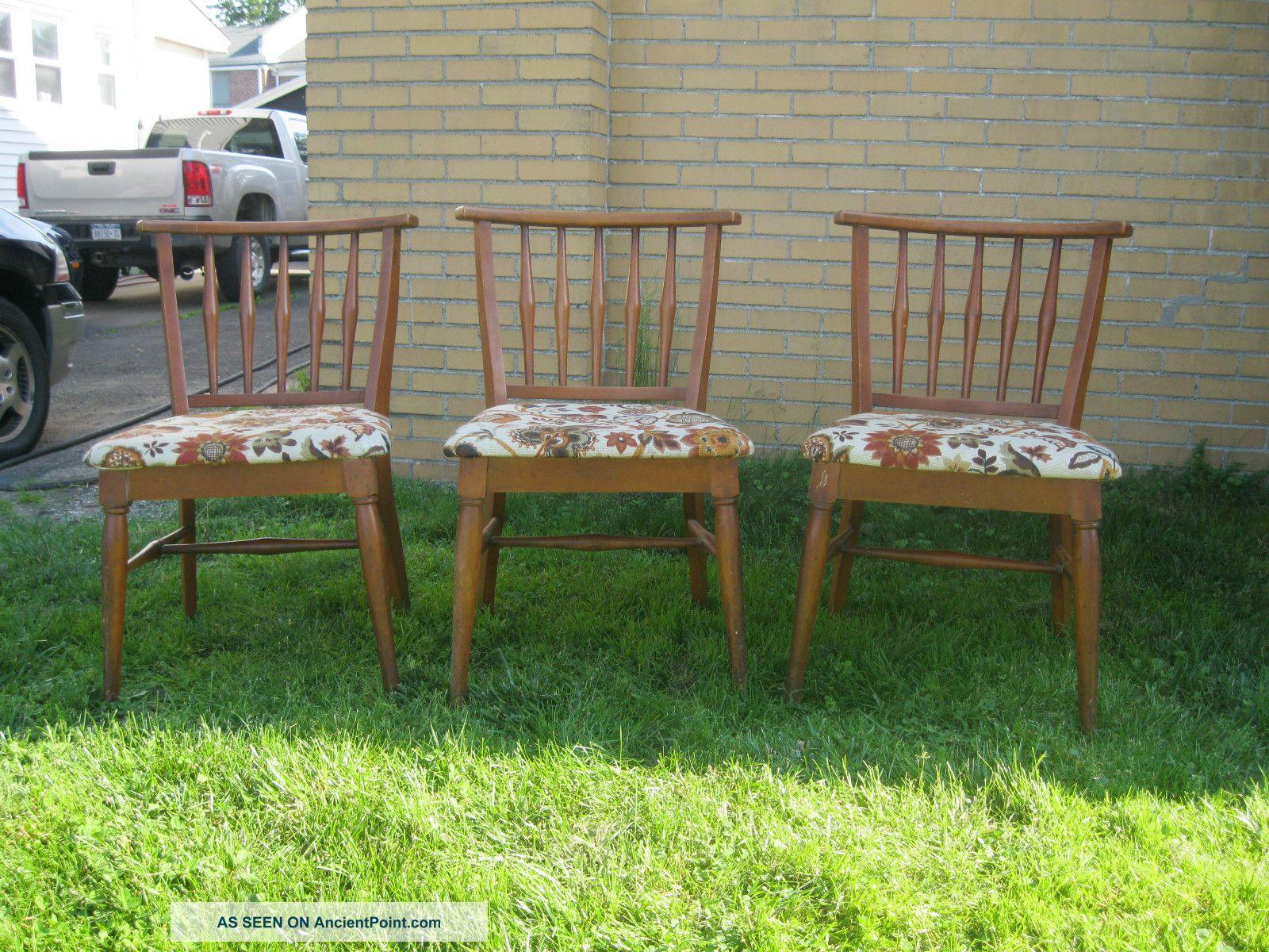1950's Mid Century Wakefield Era Russel Wright Style Chairs. Post-1950 photo