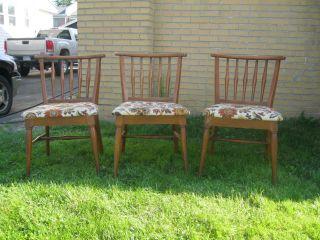 1950's Mid Century Wakefield Era Russel Wright Style Chairs. photo