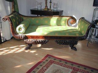 American Classical Empire Grecian Couch Recamier C.  1820 photo