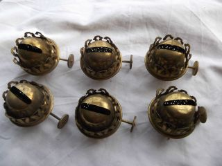 Vintage Sherwoods X 6 - Small Brass Oil Lamp Burners photo