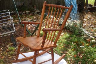 Vintage Maple Children ' S Rocking Chair In Great Shape[ Shaker Style] photo