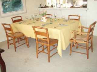 Maple Dining Set With Caned Chairs photo