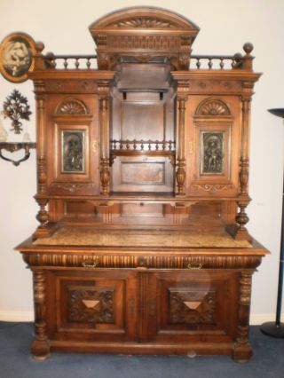 Rare 1840s Austrian Sideboard photo