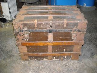 Antique Trunk,  Early 1900s,  Needs Restoration Work photo