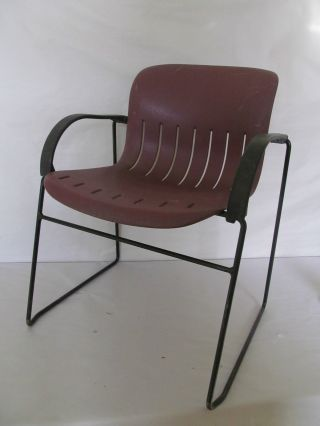 Vintage Thonet Attiva Stacking Chair Modern Jerome Caruso Design Chair photo