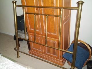 Antique Simmons Double Size Brass Bed photo