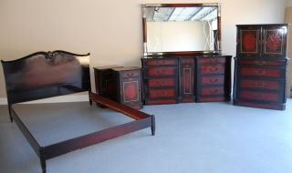 Mid Century Modern Full Size 7 Piece Bedroom Set photo