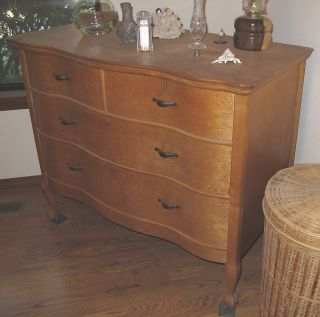 Vintage Bird ' S Eye Maple Dresser - Must See photo
