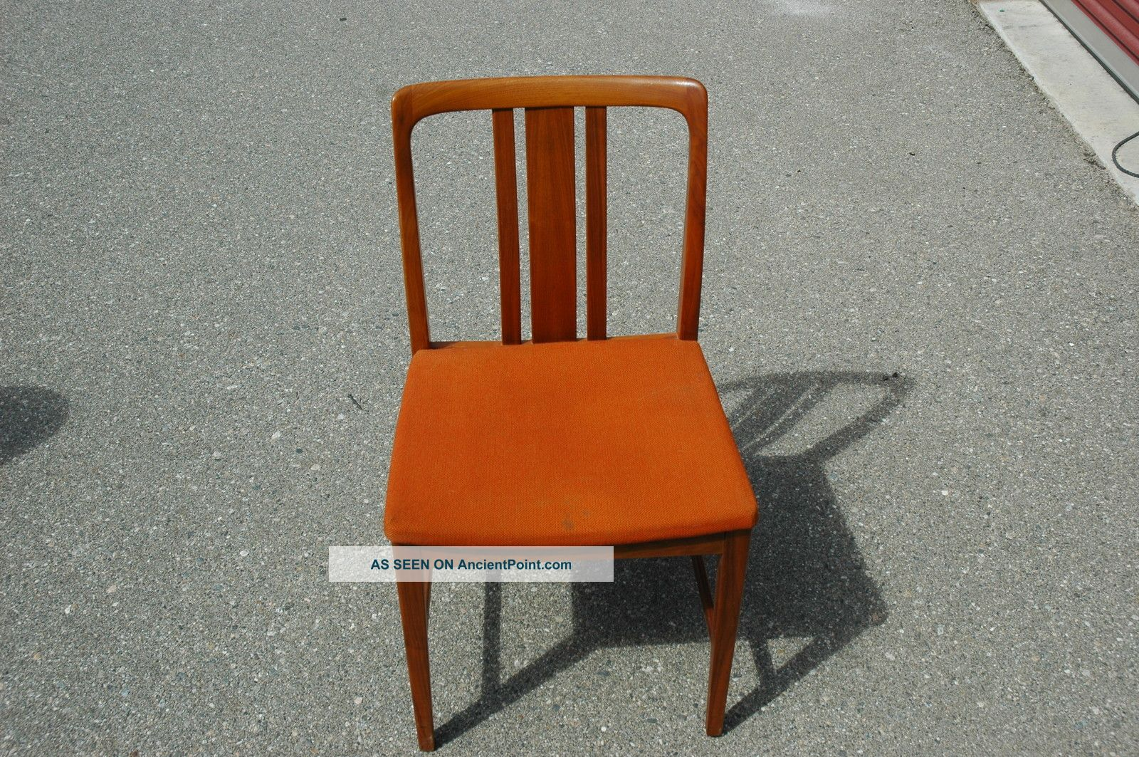 Vintage Mid Century Danish Modern Style Chair Set Of 4 Post-1950 photo