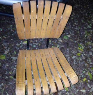 5 Mid Century Arthur Umanoff Slat Style Chairs Local Pick Up Only photo