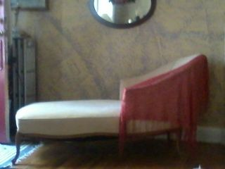 Vintage Fainting Couch Chaise Lounge Louis Xv French Maison Jansen Reclaimer Wow photo