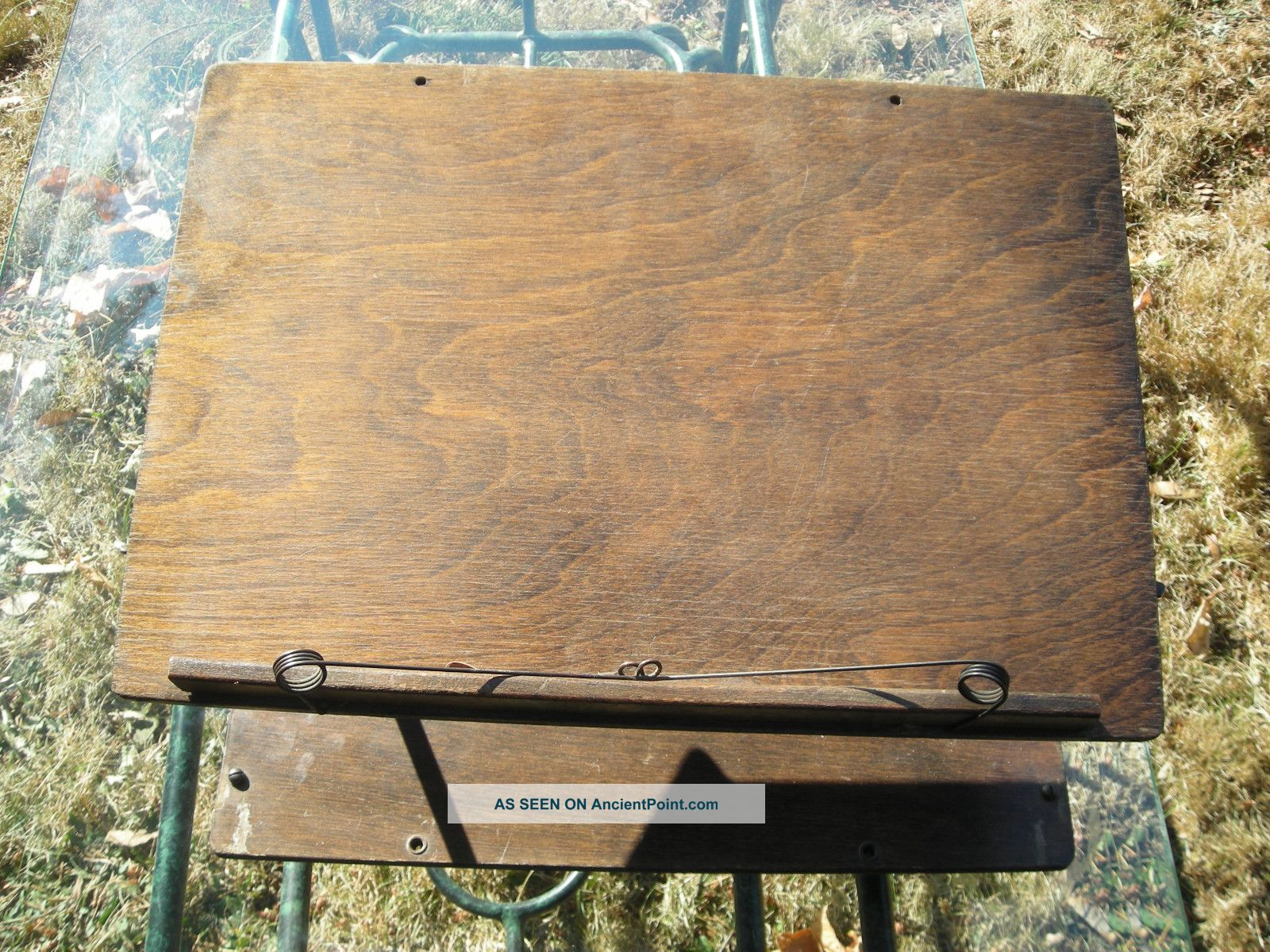 Antique Wooden Lap Desk Or Music Stand 1900-1950 photo