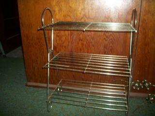 Vintage Eames Mid Century Bathroom Vanity Plant Stand Decor Metal Shelf photo