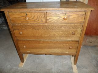 Solid Oak Dresser - Audio Cabinet photo