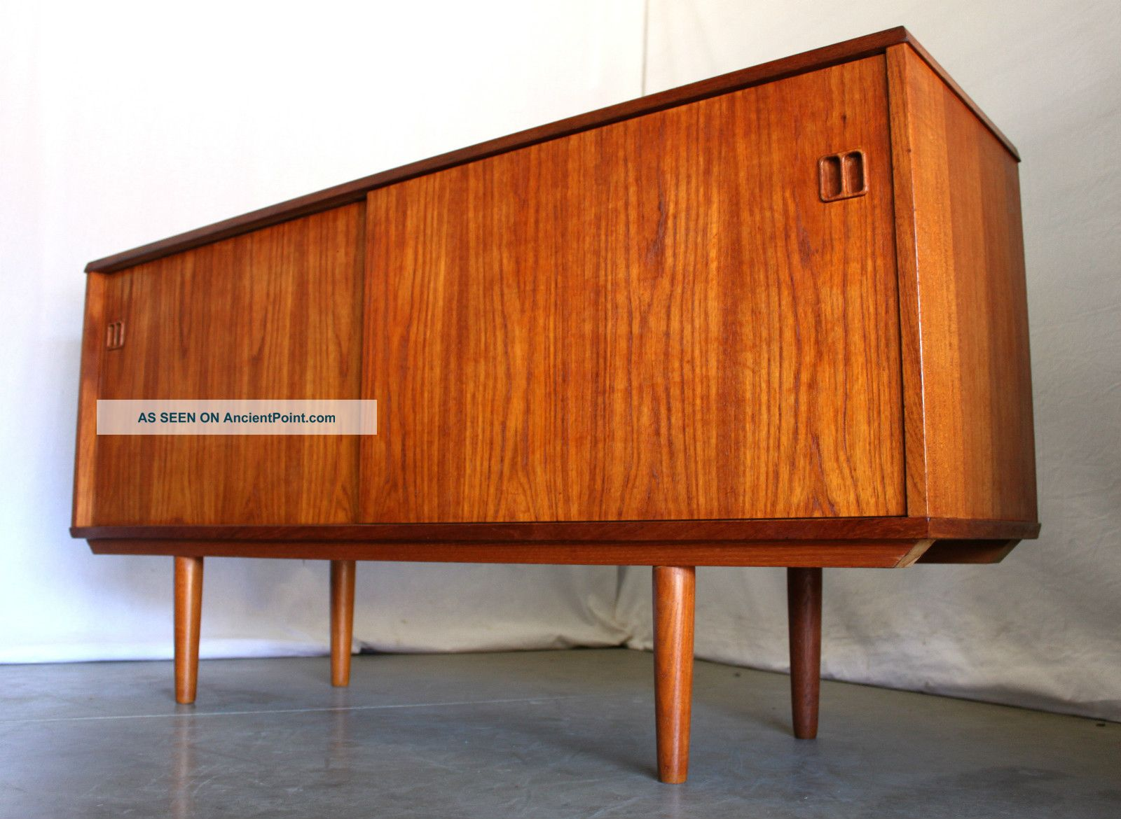 Danish Modern Credenza Sideboard : Danish modern mid century teak credenza cabinet wall unit