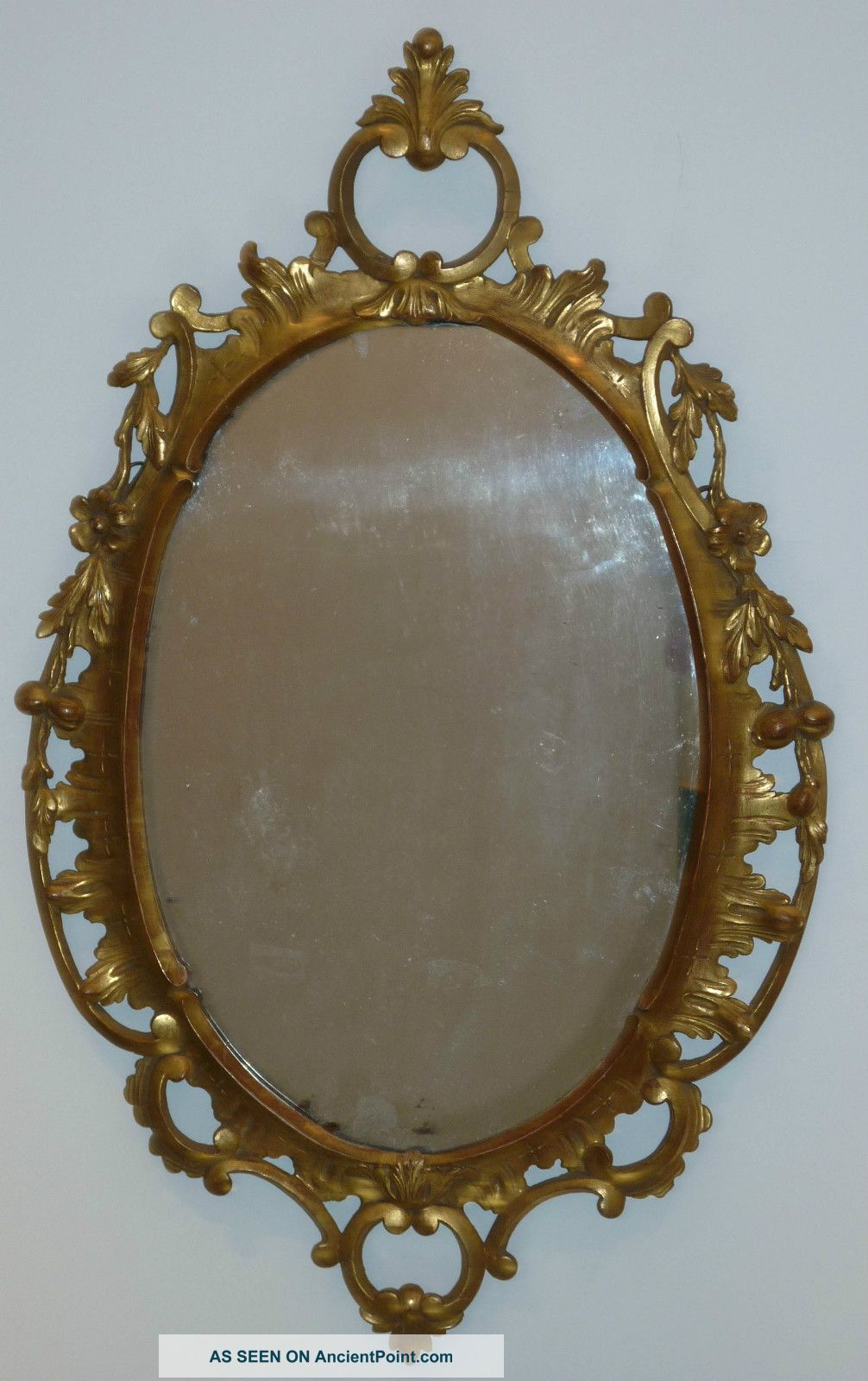 George Iii Carved And Gilded Pine Mirror,  English Circa 1770 Pre-Victorian (Pre-1837) photo