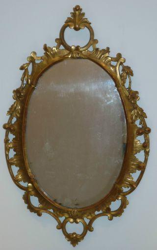George Iii Carved And Gilded Pine Mirror,  English Circa 1770 photo