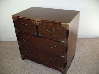 Old Korean Burled Willow Small Chest Cabinet Drawers photo